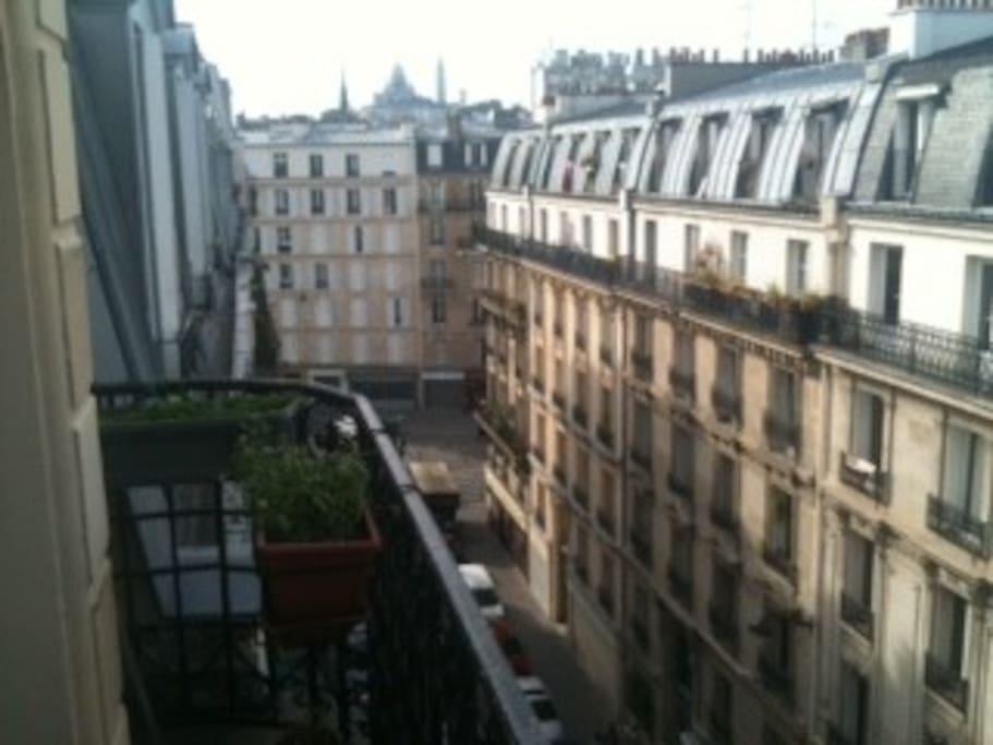 balcony and view on Sacre Cœur
