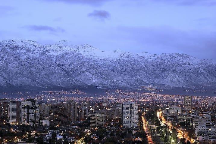 Amazing view (Andes) Forestal Park #1 - Recoleta - Apartamento
