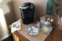 Coffee...tea...assorted beverages :)