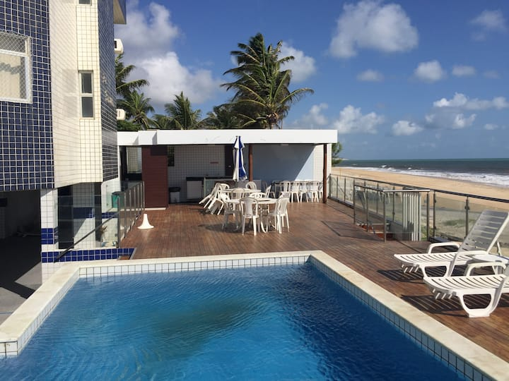 Apartamento na beira mar da melhor praia de Natal