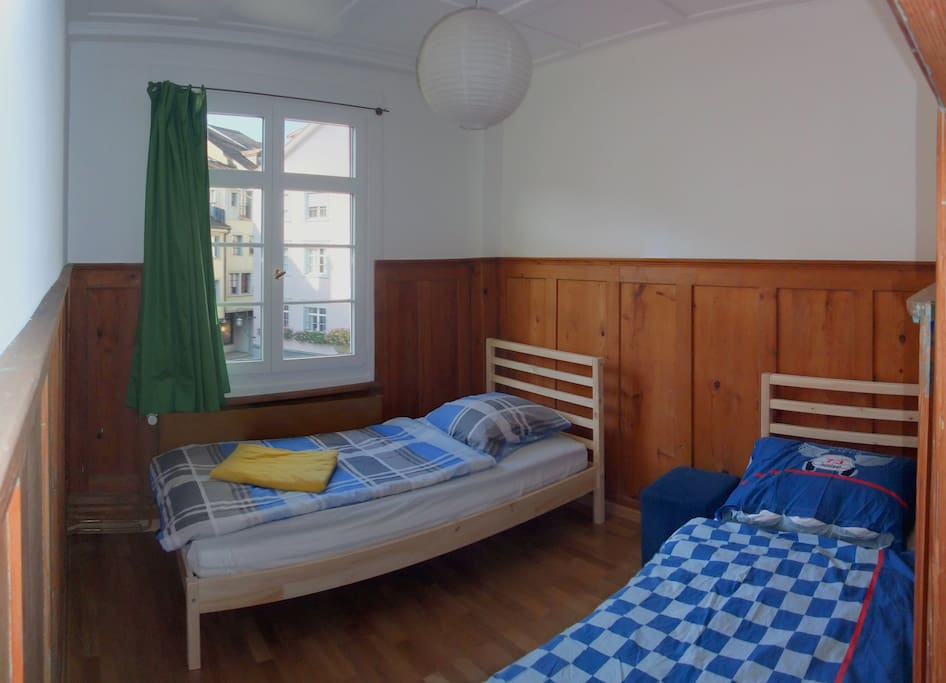 Two single beds (double bed possible).
