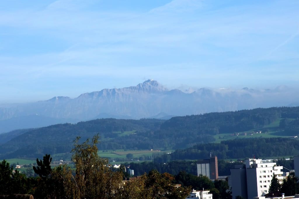 2502 metres high: Säntis. View not guaranteed :-)
