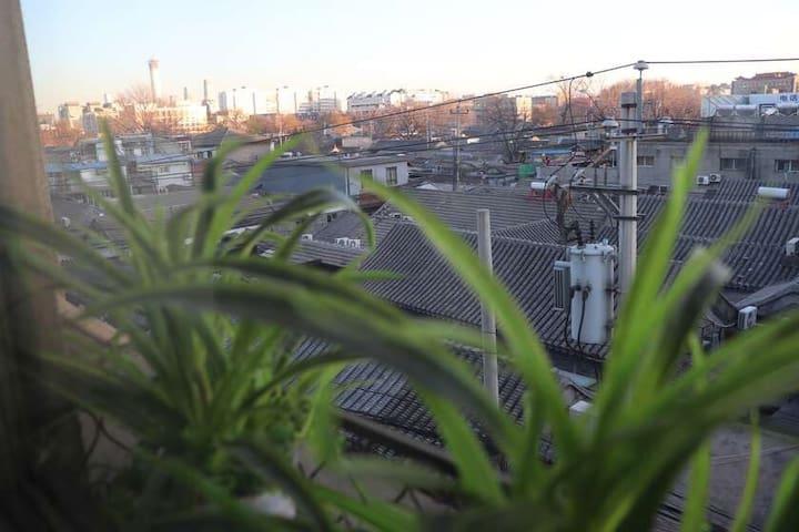 长住特惠,房间已消毒(皇城·青花瓷7)市中心二环内,设计师的温馨便利小公寓,走路去后海南锣中戏