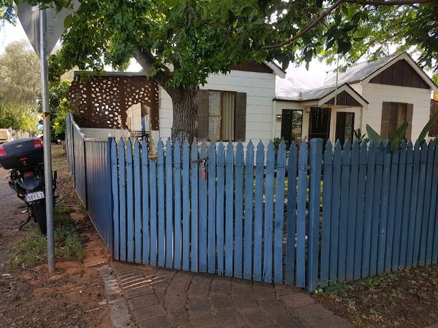 entry gate on laneside of property