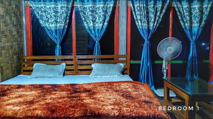 Privet rooms in Tushita Bann a resort cum nursery