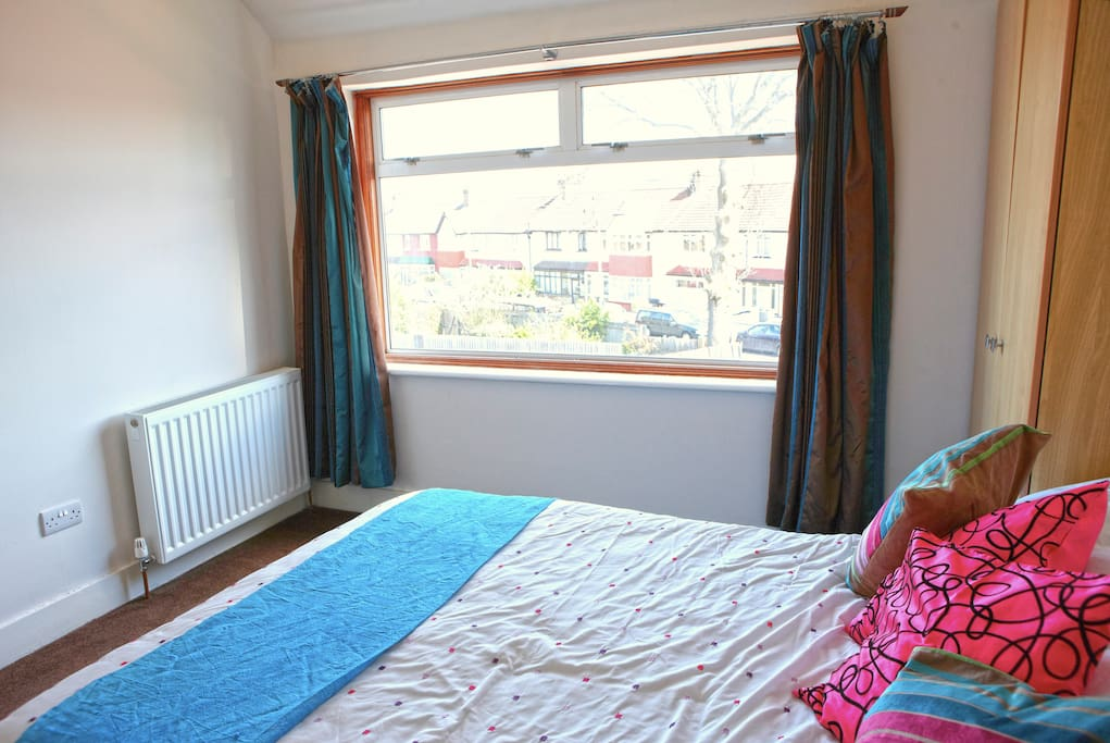 Double bed with Tv & DVD player