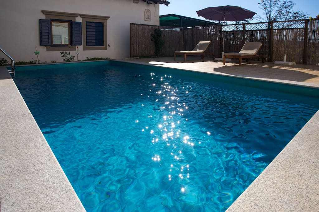 Outdoor swimming pool.
