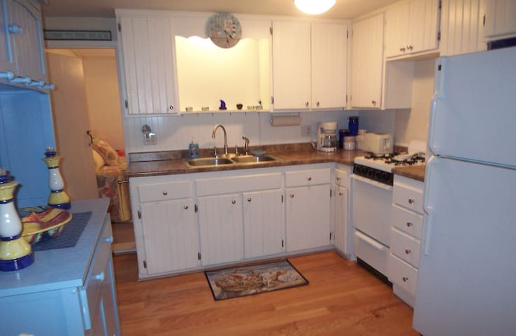 Fully equiped kitchen has everything you will need.