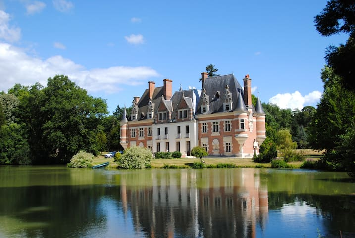 French Chateau with Lakes and Swimming Pool
