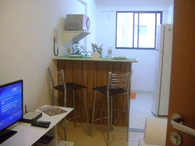 1-BR furbished apt in São Carlos - São Carlos - Apartment