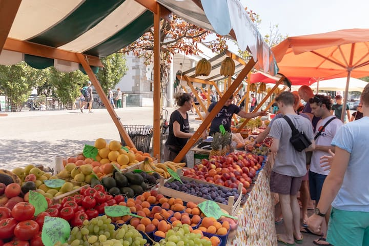 Ljubljana's open market