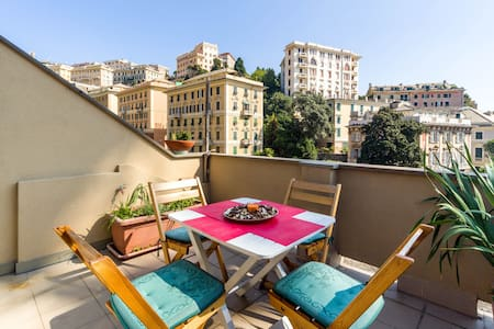 Angolo romantico -Terrace Central   - Genua - Appartement