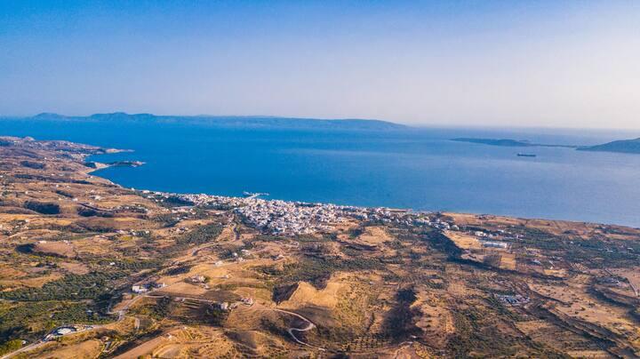Best Views in Neapoli!! Hillside Studio for 3