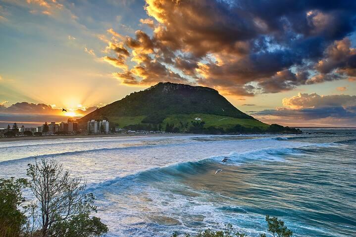 Mauao Mountain over looks the Bay
