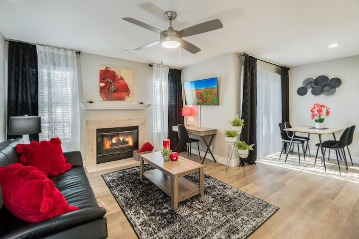 Living area + Workspace