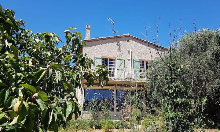 Grand appartement dans villa Provençale et jardin
