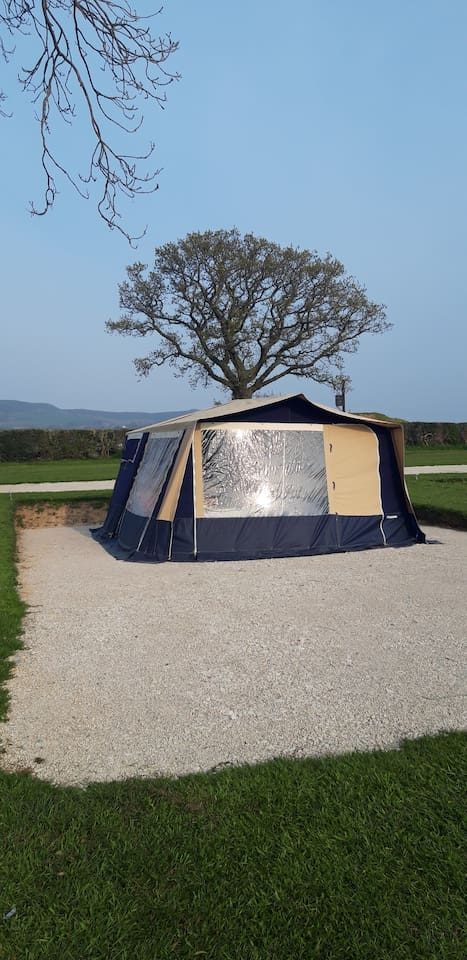 The trailer tent on hard standing pitch