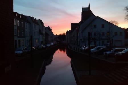 Wohnung Wasserblick direkt über dem Kanal - Wismar - Leilighet