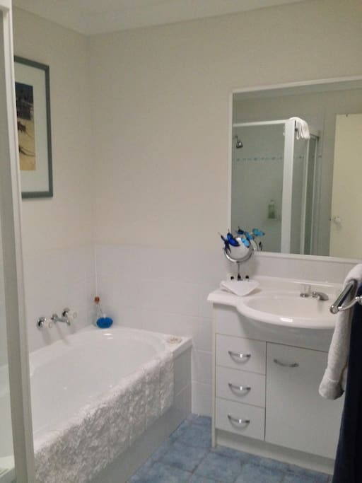 Your own, clean and tidy bathroom. Shower, bath and essentials included.