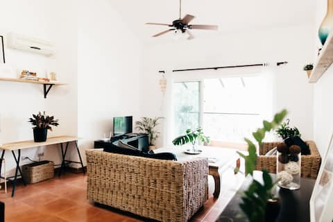 Charming Scandi + Boho inspired condo in Cocotal.