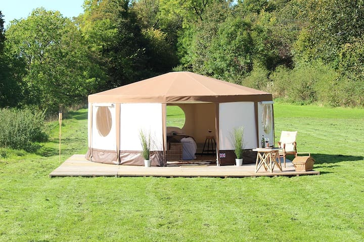 """YURT"" at Le Ranch Camping a la ferme - Madranges - Natur-Lodge"