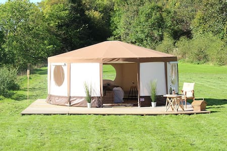 """YURT"" at Le Ranch Camping a la ferme - Madranges - Luontohotelli"
