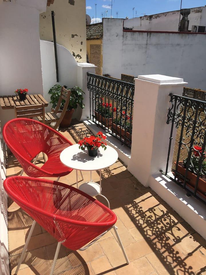 Romantic Spanish home. Terrace views of monastery