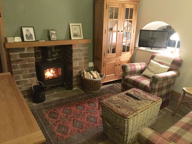 Communal area; where breakfast is served, where you can warm by the fire or watch tv