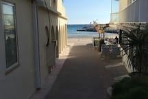 Studio 20m de la mer, 4 pers. Wifi, parking privé