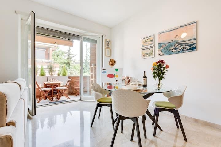 Bernardini Vatican Apartment with Terrace