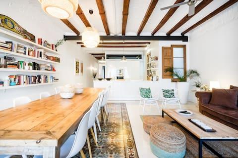 Exquisito apartamento con espacios abiertos y luz