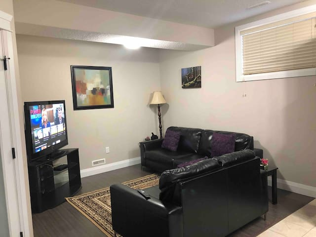 Private two bedroom suite  with cozy living room