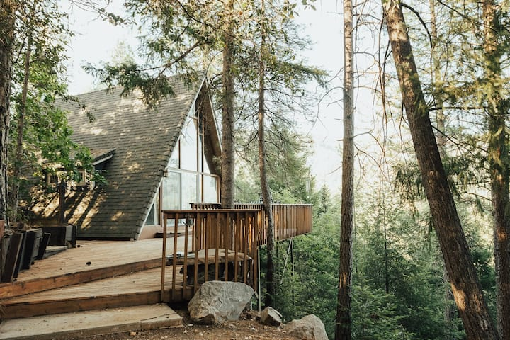 Shasta A Frame Cabin with a View