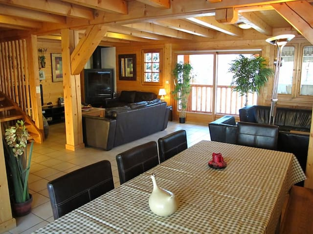 Four star chalet for up to 11 with 4-5 bedrooms close to the slopes!