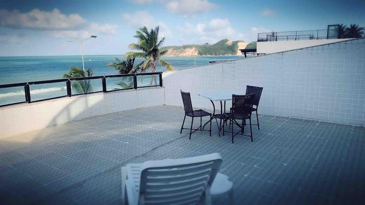 Apartamento Kings Flat Frente Mar com Varanda 402