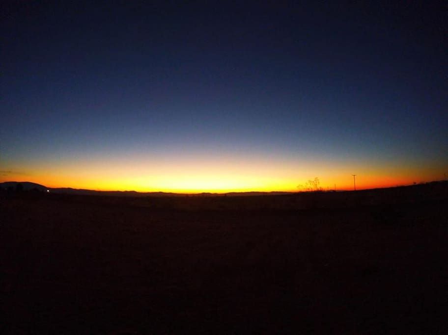 Sunrise over the Mesa. (Picture, thankfully taken by a wonderful guest photographer)