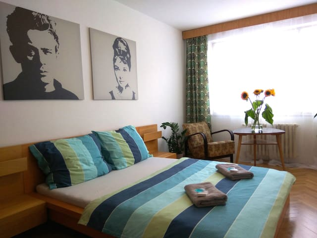 Retro cozy&comfy room, 15 min centre, FREE PARKING