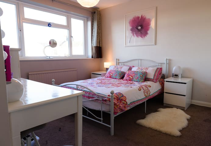 Double bed in family home