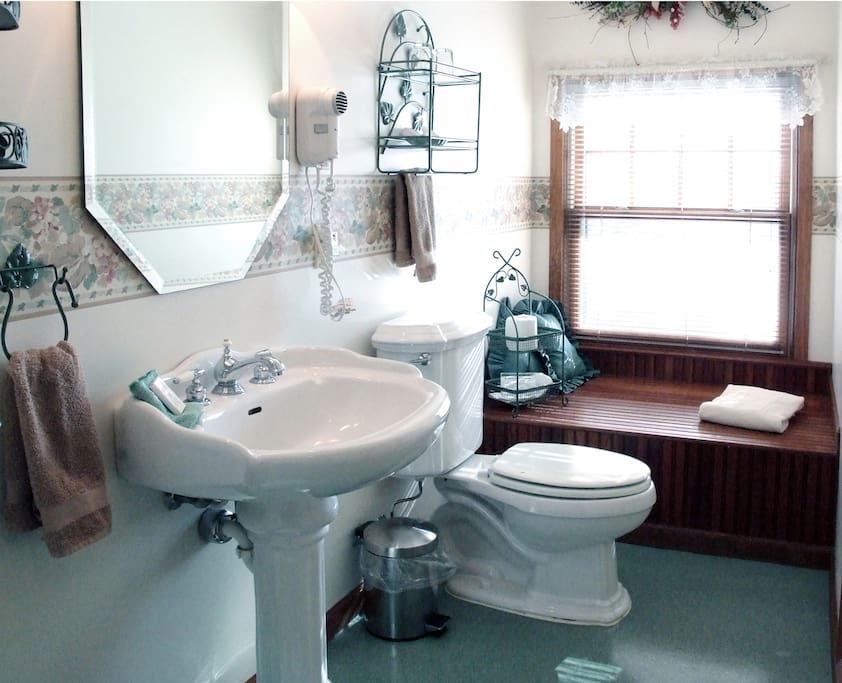 Private in-room bath with shower