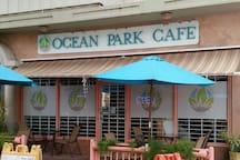 Nice sidewalk cafe.  Walking distance.
