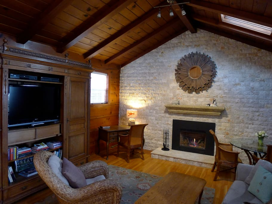 Remodeled Interior with Gas Fireplace and DirecTV