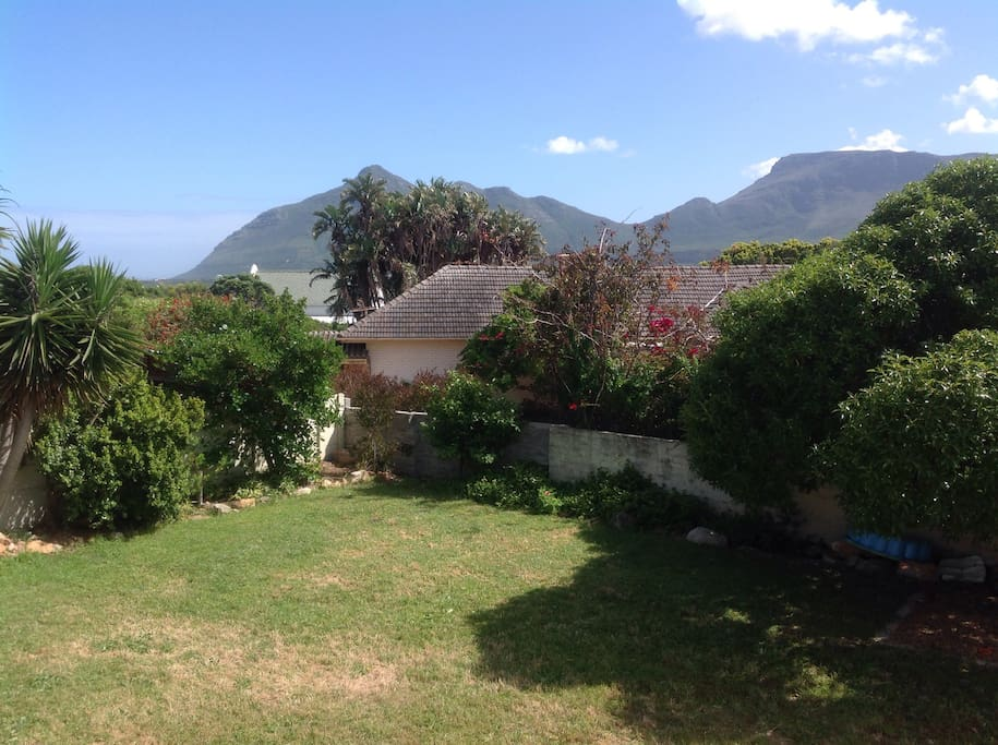 Front garden with views towards Noordhoek mountains and beach
