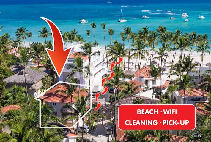 OCEAN VIEW VILLA 4 people Beach WiFi