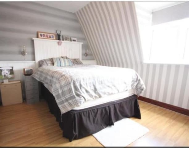 Temporary one double room in a 2 bed house.