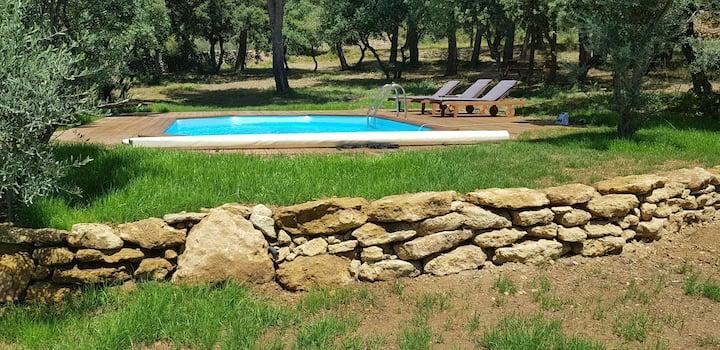Mas Provençal avec piscine chauffée, idéal famille