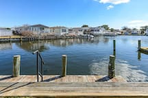 No need for a fishing license when you fish or crab from our own dock!
