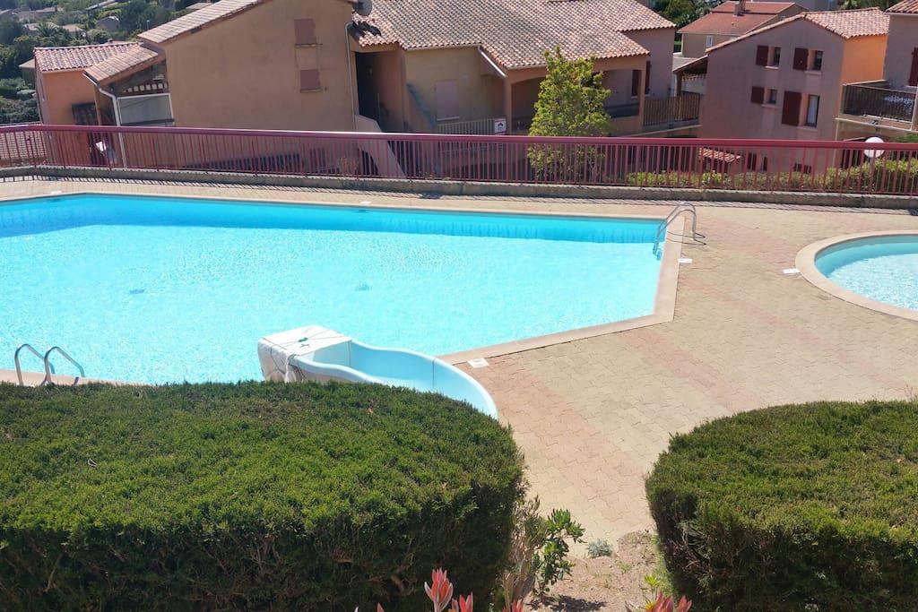 Beau duplex en maison individuelle avec piscine flats for Camping cavalaire sur mer avec piscine