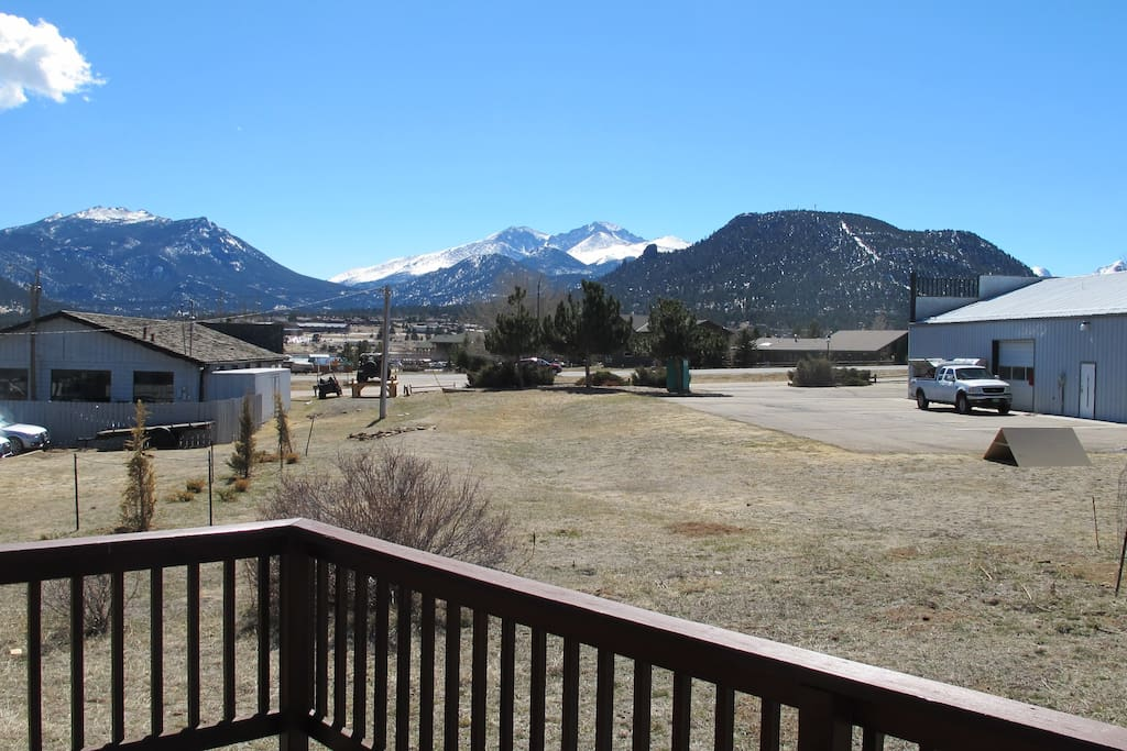The view from the front porch, Longs Peak in the background
