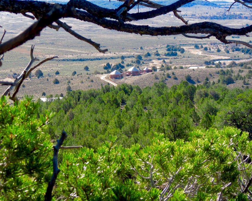 Fourteen private acres surrounded by BLM land yet close to Hwy 89