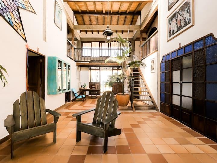 Habitación doble en casa campestre